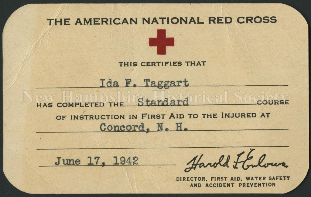 New Hampshire Historical Society The American National Red Cross