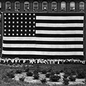 Image of Amoskeag Company's great flag, photographed June 29, 1914.