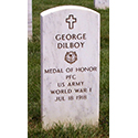 Image of grave of World War I soldier George Dilboy, Arlington National Cemetery, Washington, DC.