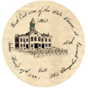 Detail from the earliest image of the NH State House, 1822. Courtesy of Norwich University.