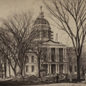 Detail from photograph of NH State House under construction in 1865. New Hampshire Historical Society.